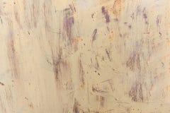 Alte getragene Metalloberfläche mit Farbe Rostige Metallbeschaffenheit Blechtafel mit Rost und abgenutzter Farbe Hintergrund Meta Stockfoto