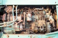 Alte getragene Motorblock-und Maschinen-Teile Lizenzfreies Stockfoto