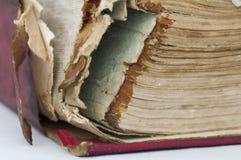 Alte getragene Papierblätter des Buches Lizenzfreies Stockbild