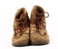 Alte getragene Schuhe Lizenzfreies Stockfoto
