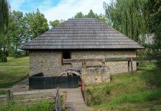Alte Getreidemühle - Suceava-Dorf-Museum Stockbild