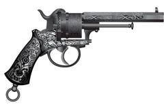 Alte Gewehr mit Verzierung Stockfotografie