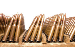 Alte Gewehr-Patronen Stockbild