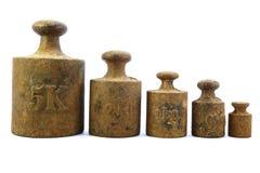Alte Gewichte Imagenes de archivo