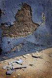 Alte Gips-Wand gebrochene Krümel-Stücke Stockbilder