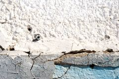 Alte Gips-Wand und Schalen-Farbe im Blau Lizenzfreie Stockbilder