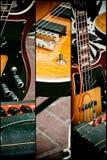 Alte Gitarre der Collage Stockbilder