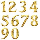 Alte glänzende Zahlen der hohen Qualität Stockbild