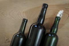 Alte Glasflaschen stockbild