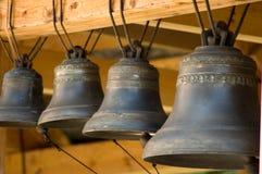 Alte Glocken schließen oben Stockfotografie