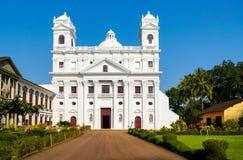 Alte Goa-Kathedrale Stockbilder