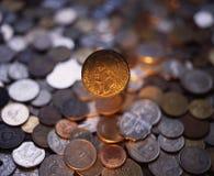 Alte goldene Münze Stockfotografie