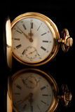 Alte goldene Uhr Lizenzfreie Stockfotos