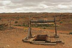 Alte Goldmine mit der Handkurbel lizenzfreies stockfoto