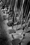Alte Golfclubs lizenzfreie stockfotos