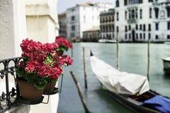 Alte Gondel in Venedig Lizenzfreies Stockfoto