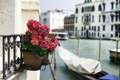 Alte Gondel in Venedig Lizenzfreie Stockbilder