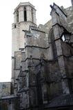 Alte gotische Kathedrale in Barcelona lizenzfreie stockbilder