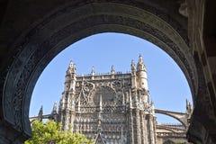 Alte gotische Kathedrale, Sevilla, Spanien Lizenzfreies Stockfoto