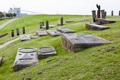 Alte Gräber der Wüstung Oterdum, Holland Stockfotos