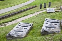 Alte Gräber der Wüstung von Oterdum, Holland Lizenzfreies Stockbild