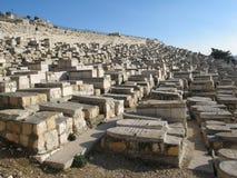 Alte Gräber in Jerusalem Lizenzfreies Stockfoto