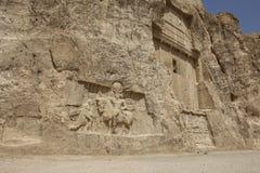 Alte Gräber von Achaemenidkönigen bei Naqsh-e Rustam im Norden stockfotos