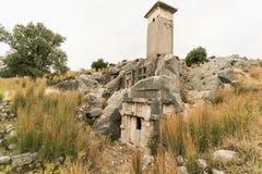 Alte Gräber in Xantos lizenzfreie stockbilder