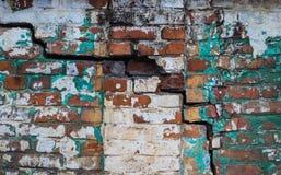 Alte grüne Backsteinmauerbeschaffenheit für Hintergrund Lizenzfreies Stockfoto