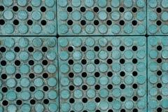 Alte grüne Plastikplattenbeschaffenheit Stockbilder