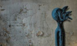 Alte Graffiti in Beelitz Lizenzfreie Stockfotos