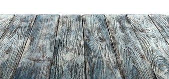 Alte grau-blaue gemalte Schmutztischplatte, Brett oder ein hölzernes Regal Stockfotos