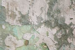 Alte graue und grüne befleckte Gipswand Grunge Wand-Beschaffenheitshintergrund stockfotografie