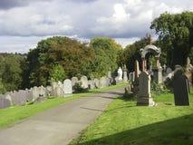 Alte Gräber am berühmten allgemeinen Kirchhof in Nottingham Lizenzfreie Stockfotografie