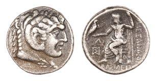 Griechisches Silbernes Tetradrachm Von Alexander Der Große Stockfoto