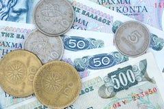 Alte griechische Währung Drachme Stockbild