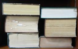 Alte große Bücher Stockbild