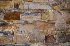Alte große Backsteinmauer des Schmutzes stockbild
