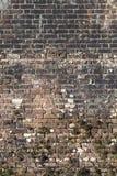 Alte große verwitterte Backsteinmauer Lizenzfreie Stockbilder