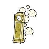 alte großväterliche Uhr der komischen Karikatur Stockfotos