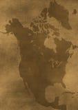 Alte grunge Amerika-Kartenabbildung Lizenzfreies Stockbild