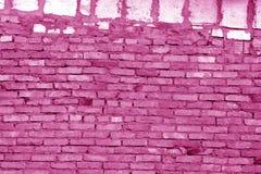 Alte grungy Backsteinmaueroberfläche im rosa Ton stockfotos
