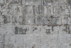 Alte grungy Beschaffenheit, graue Betonmauer Detail des alten hölzernen Fensters Lizenzfreie Stockfotografie