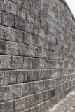 Alte grungy graue Backsteinmauerbeschaffenheit Lizenzfreie Stockfotos