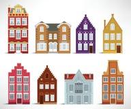 8 alte Häuser Stockfoto