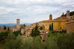 Alte Häuser in Assisi Lizenzfreie Stockfotos