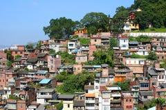 Alte Häuser auf einem Hügel Lizenzfreie Stockfotos