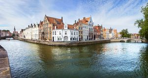Alte Häuser in Brügge, Belgien Lizenzfreies Stockfoto