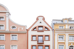 Alte Häuser in der Mitte von Riga Stockbilder