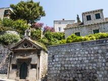 Alte Häuser in Dubrovnik Stockbild